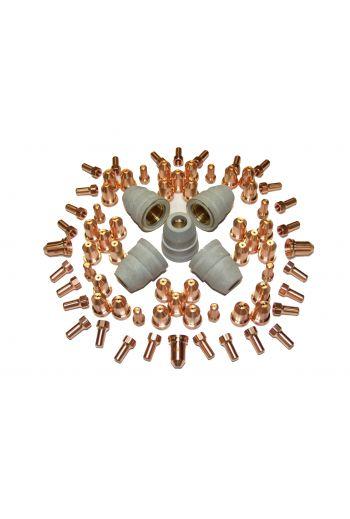 PT80 CONSUMABLES 75 PIECE SET (0.9mm TIPS)